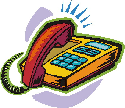 Telephone clip art 6