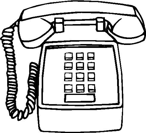 Telephone clip art 9