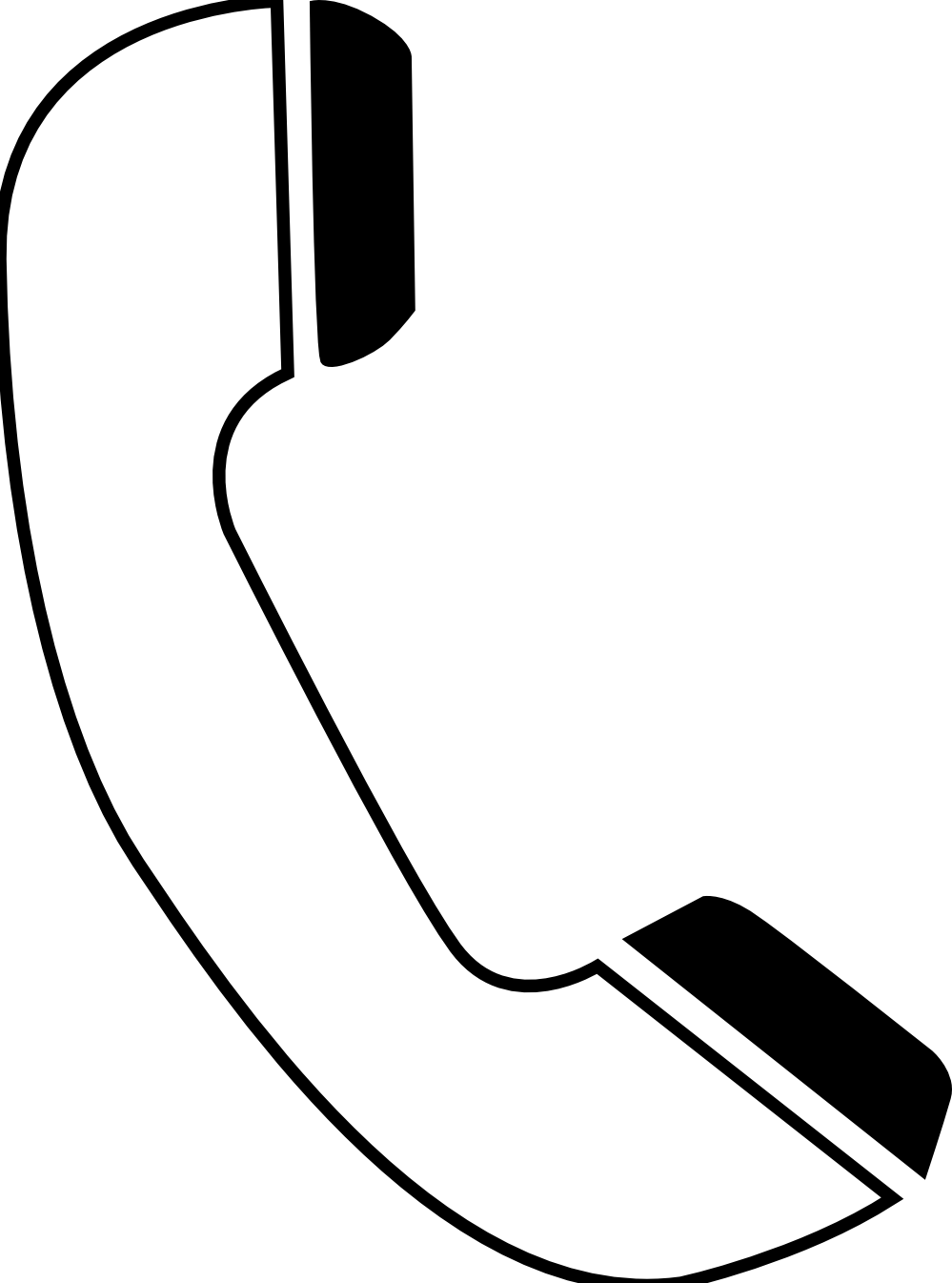 Person on telephone clipart image #14648