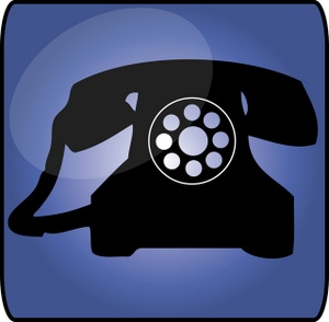 Telephone clipart image rotary telephone