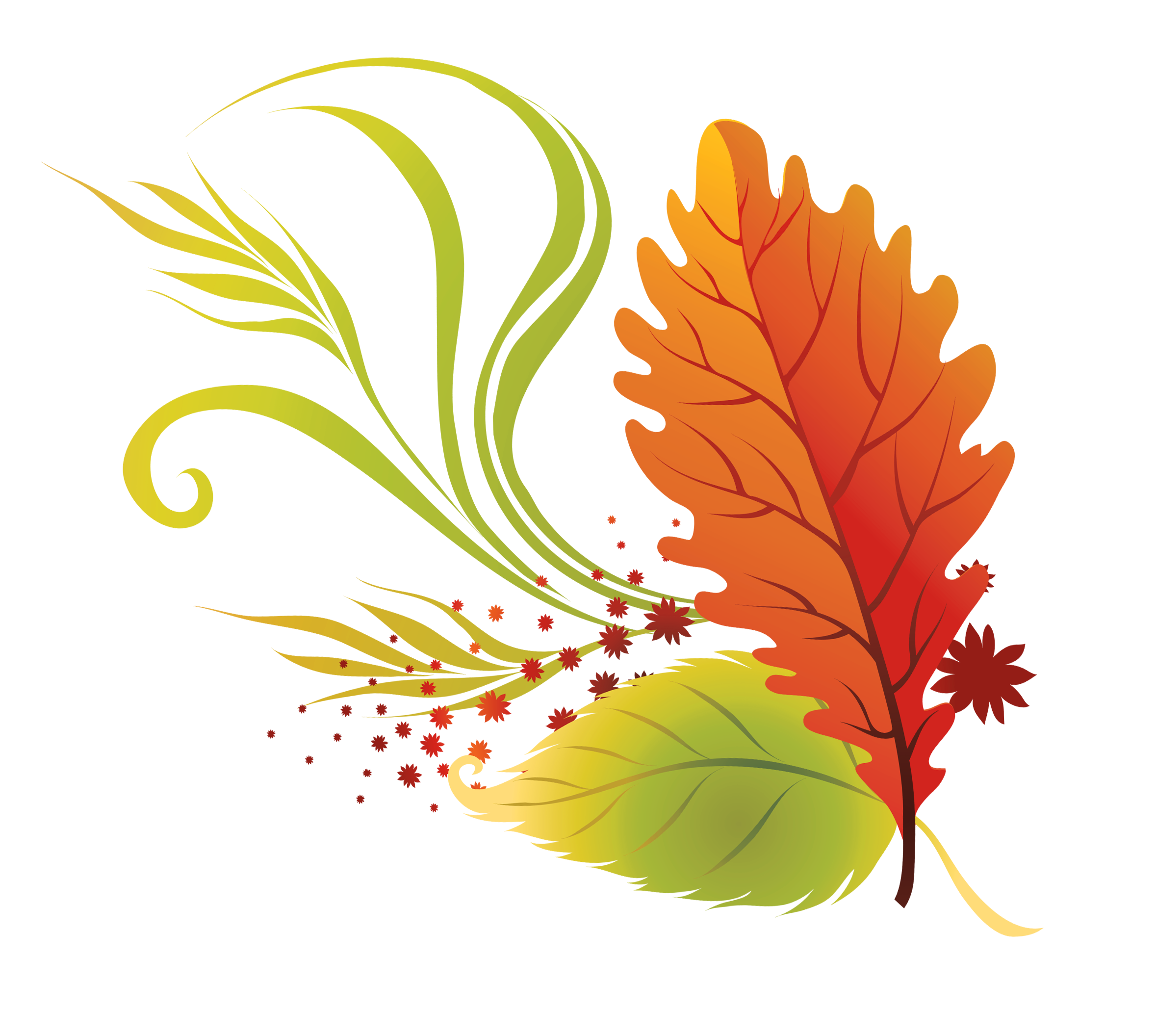 Transparent fall leaves clipart picture 0 2