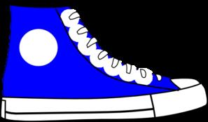 Blue shoe clip art at vector clip art