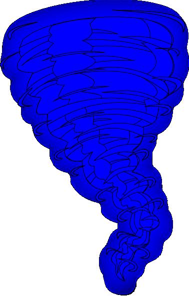 Blue tornado clip art vector clip art free