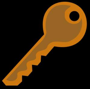 Bronze key clip art vector clip art free