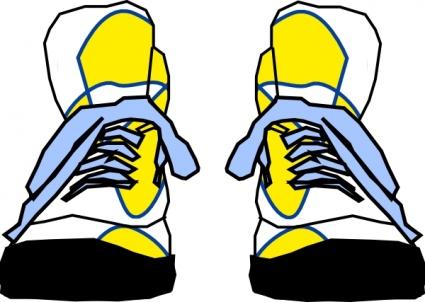 Free clip art tennis shoe clipart