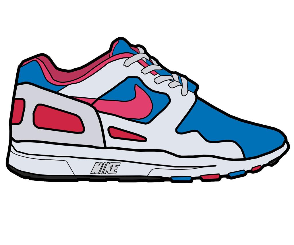 Nike running shoes drawing shoe clip art clipart