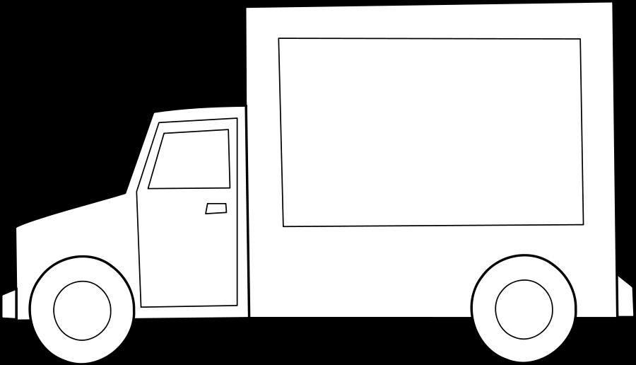 Old medium truck clipart vector clip art free