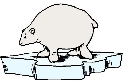 Polar bears clip art 4