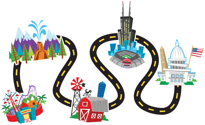 Road map clip art clipart