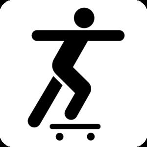 Skateboarding stick figure clip art at vector clip art