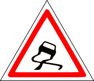 Slippery road clip art free vector