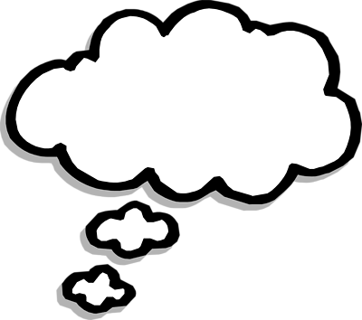 Thinking bubble clipart clipart 2