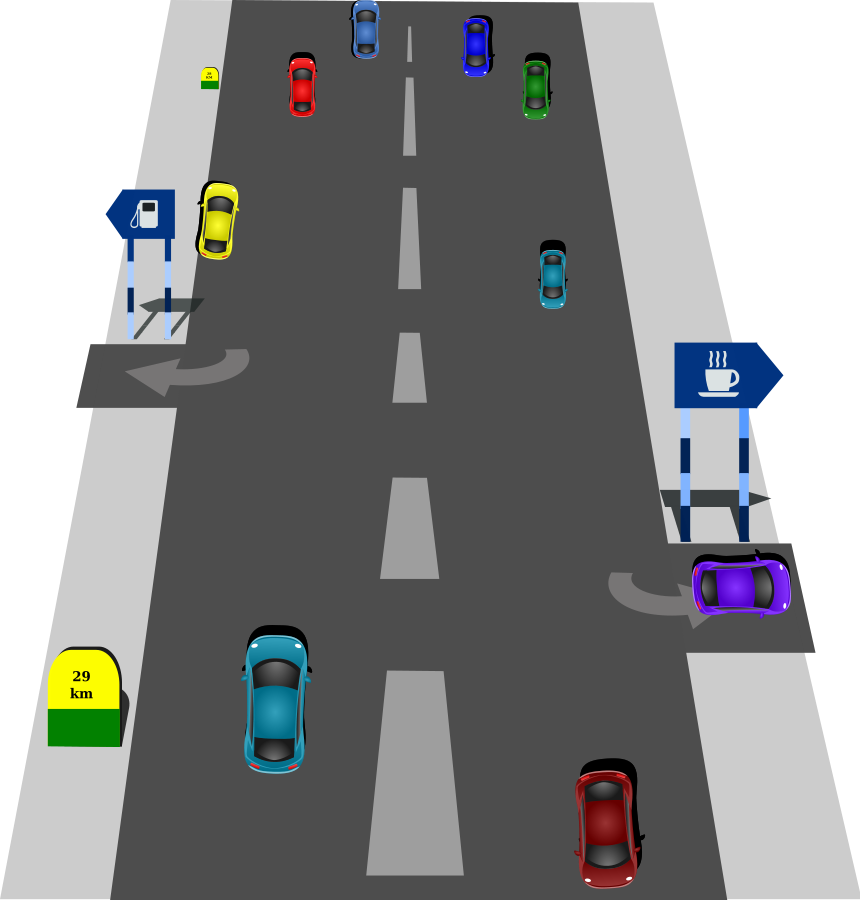 Tsd right road to clipart vector clip art free