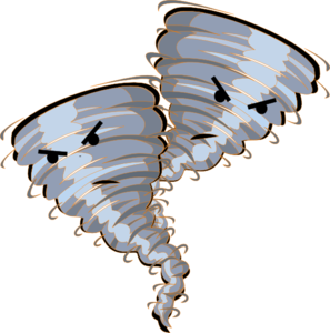 Twin orange tornado clip art at vector clip art