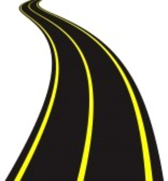 Vector illustration of winding road free images at clipart