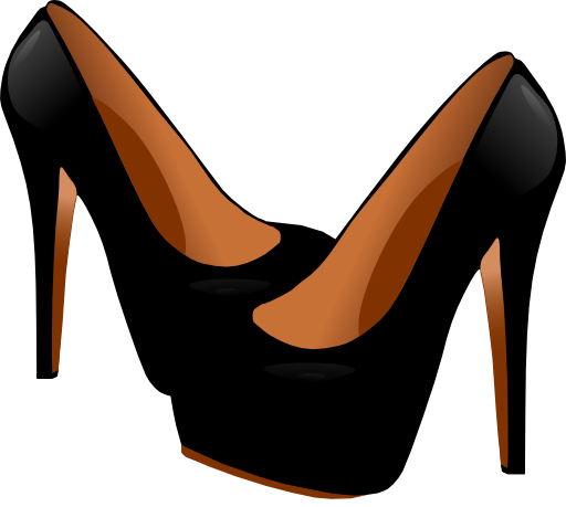 Womens shoe clipart