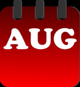 August calendar clip art at vector clip art