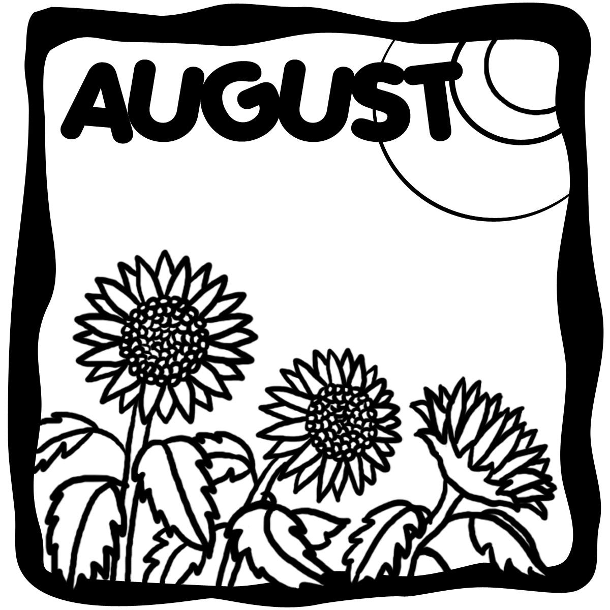 August clip art sites