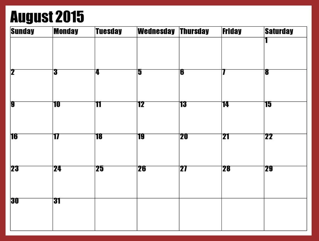 August calendar clip art at vector clip art image #15817
