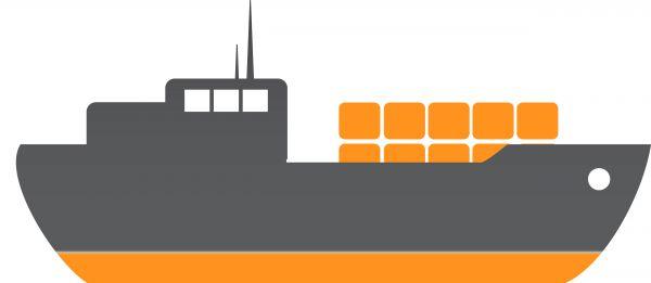 Cargo ship clip art 3