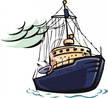 Cargo ship clip art