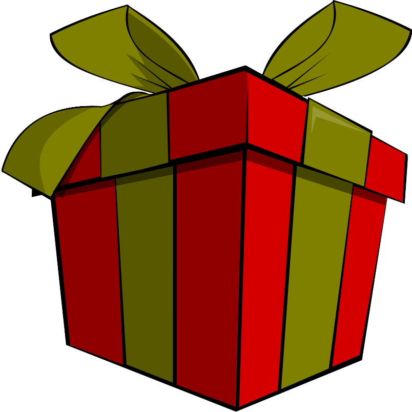 Christmas present clipart free clipart images
