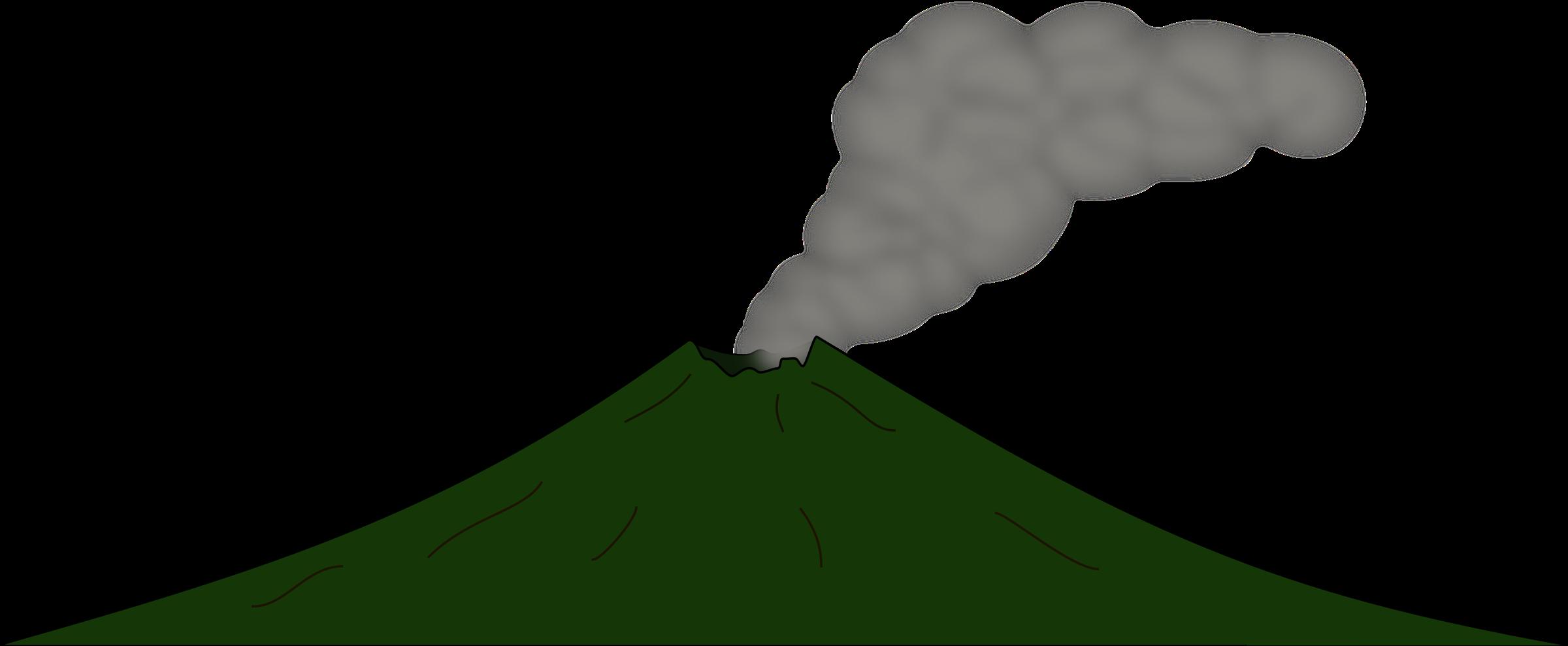 Clipart volcano 2