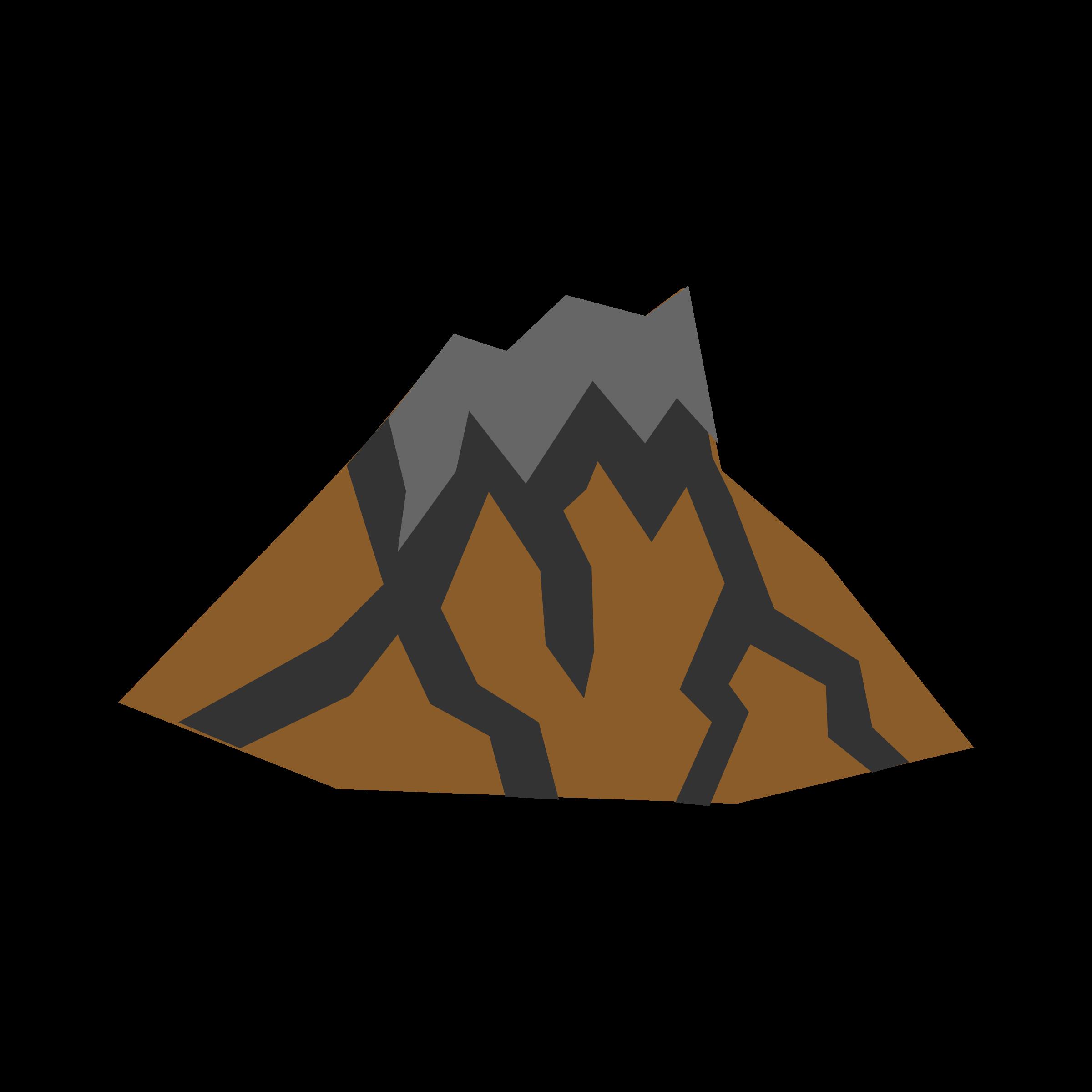 Clipart volcano dormant