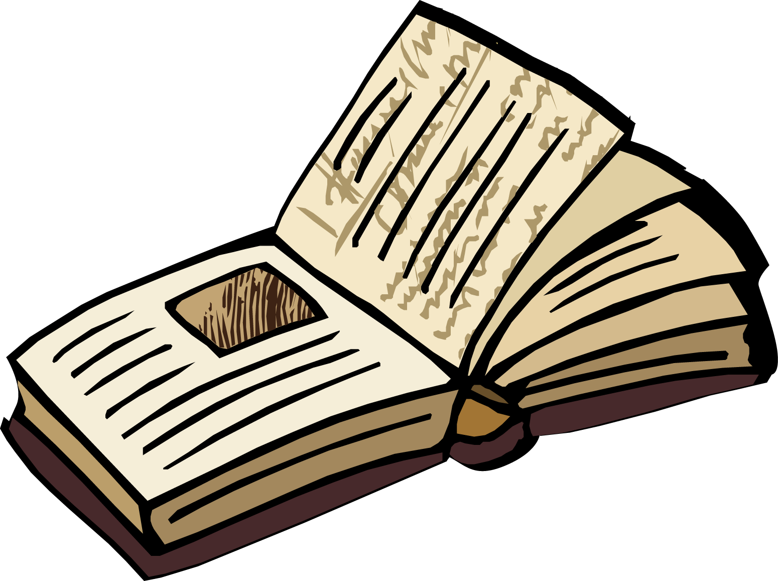 Flat open book clip art free clipart images