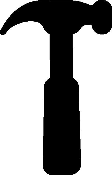 Hammer black clip art at vector clip art