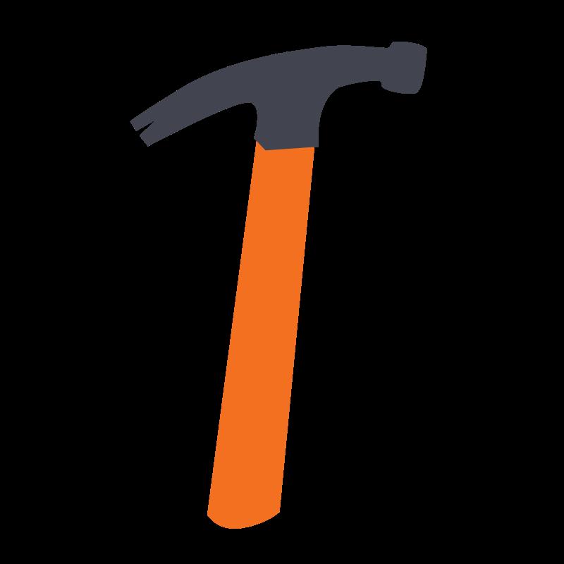 Hammer tools clip art