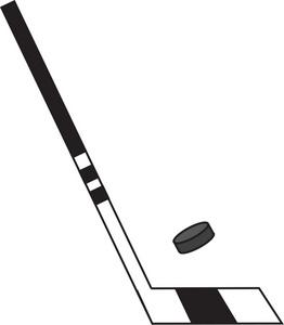 Hockey clipart image hockey stick and hockey puck