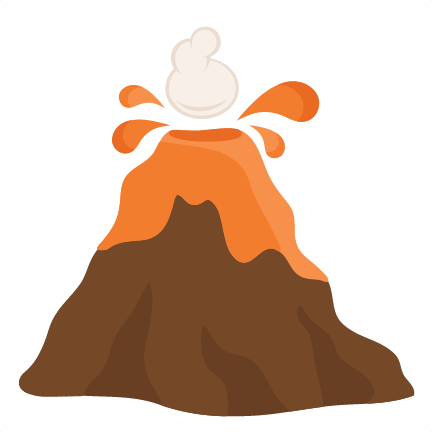 Large volcano2 clip art