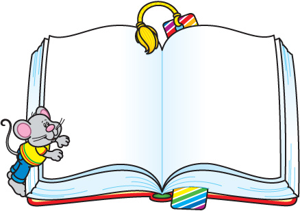 Open book clip art 3