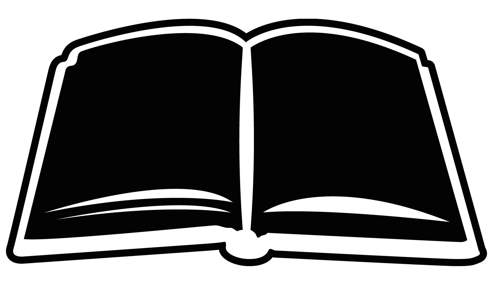 Open book clip art 6