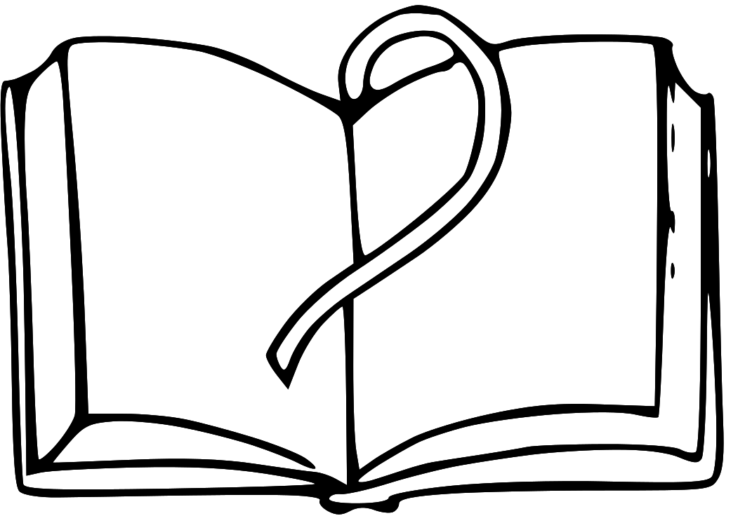 Open book clipart 2