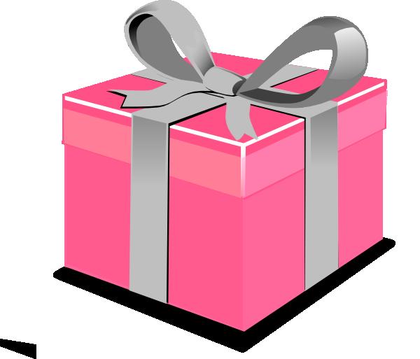 Pink present clip art at clker com vector clip art