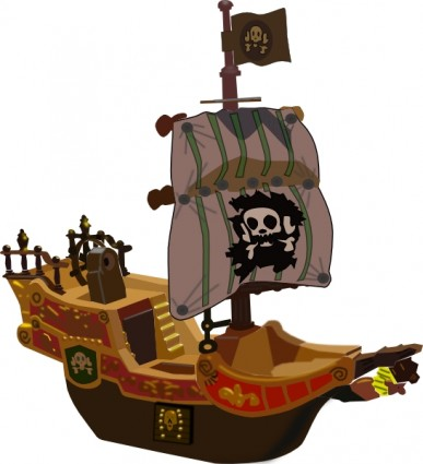 Pirate ship clip art free vector in open office drawing svg svg