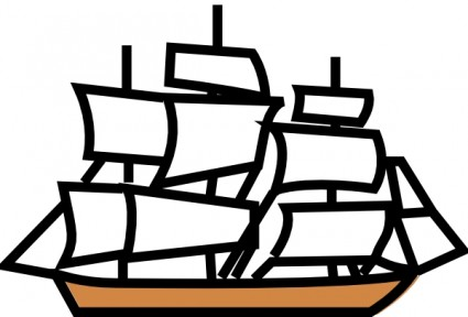 Pirate ship free vector free clipart images