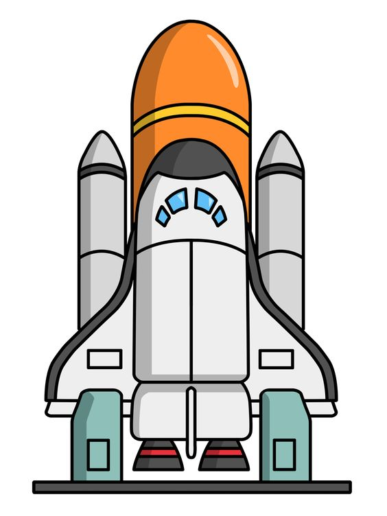 Rocket ship clip art free cartoon rocketship space alien pla