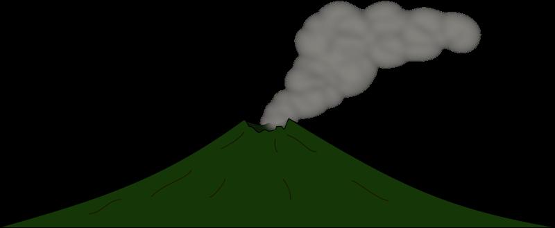 Volcano 2 free vector clip art