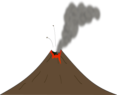 Volcano clipart black and white free clipart images image #15321