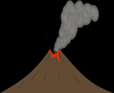 Volcano clip art  2