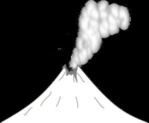 Volcano clip art at vector clip art