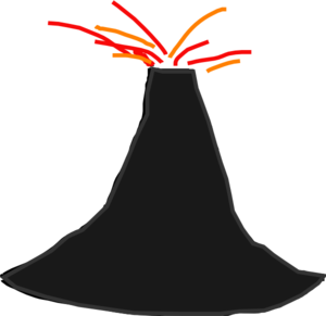 Volcano clipart clipart