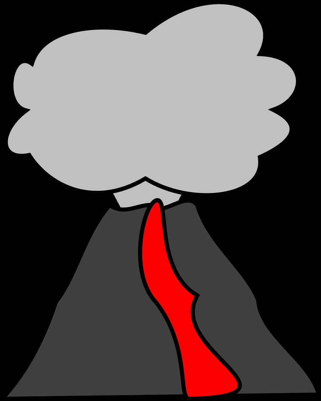 Volcano nature clip art