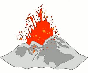 Volcano volcan clip art download