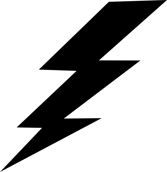 Black lightning bolt clip art vector clip art