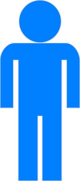 Blue man clipart clip art at vector clip art