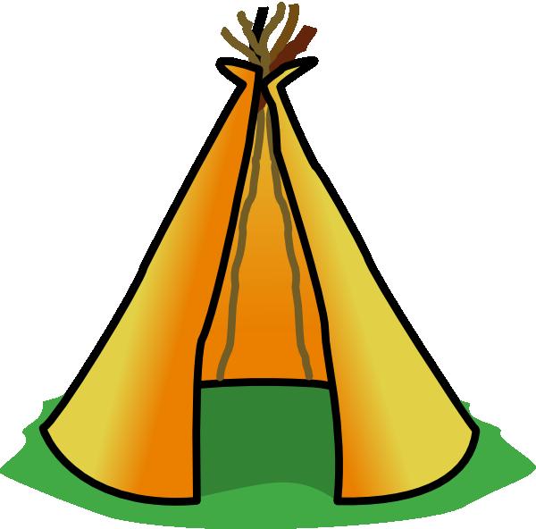 Campfire tent clip art clipart 2